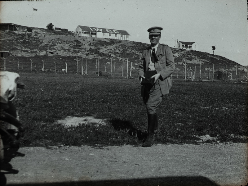 LCol. Nangle at Camp, Kelia Bay