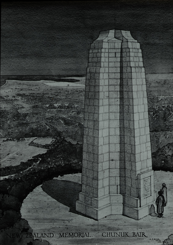 Chunuk Bair Monument, Drawing