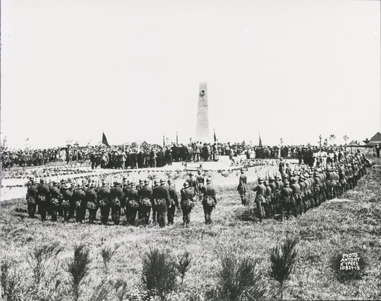 Unveiling of the Monument at Messines