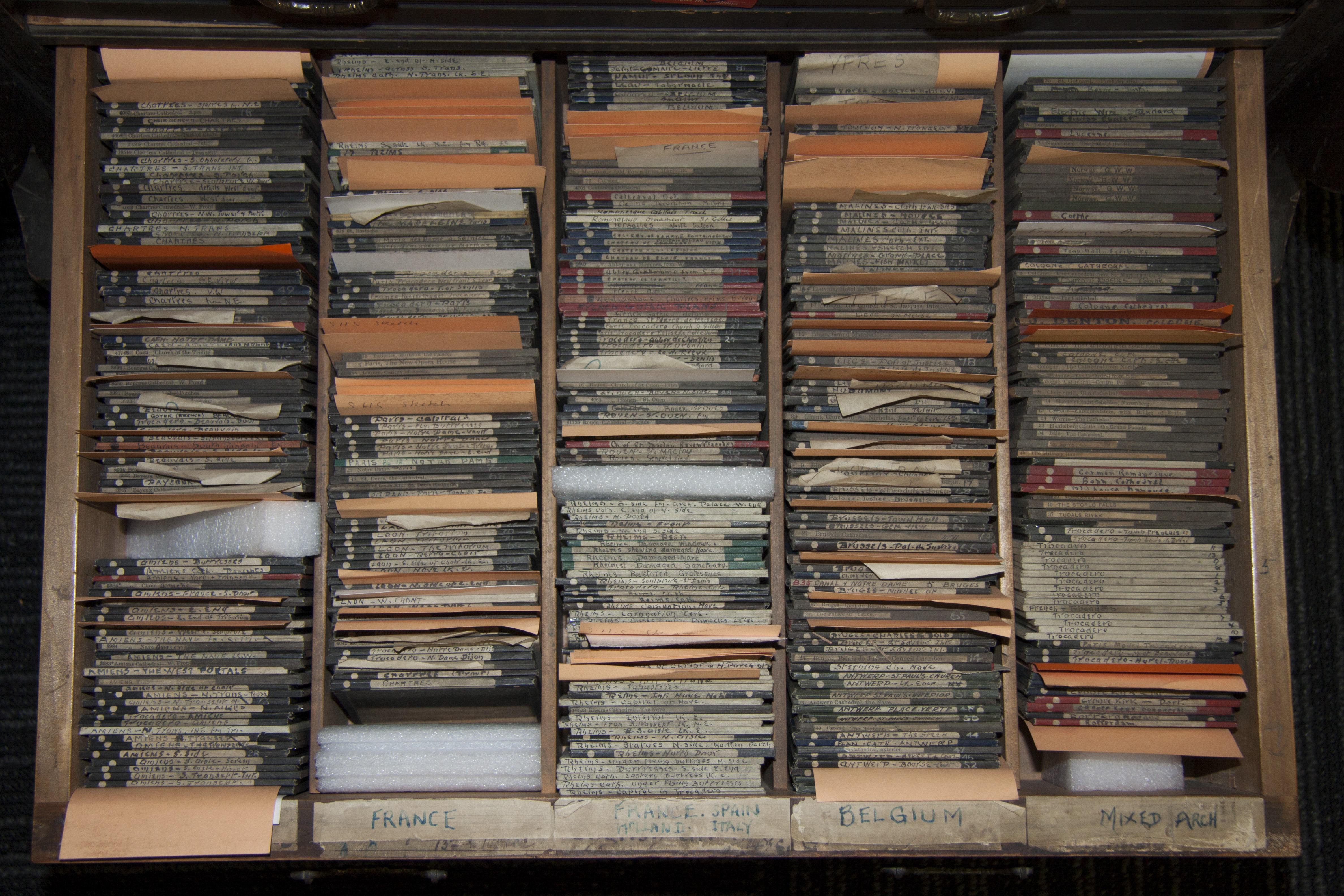 Drawer of ARTH lantern slides